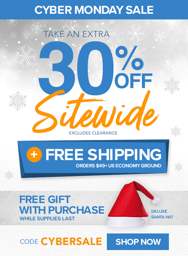 Cyber Monday Deal! 30% Off Sitewide + Free Shipping $49+ With Code CYBERSALE!
